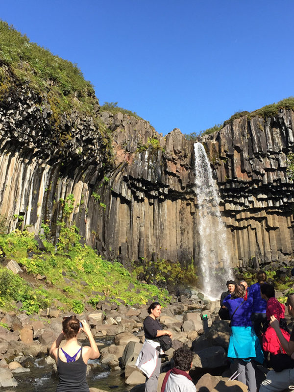 Visit Svartifoss in Iceland with GJ Travel