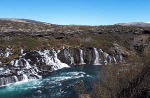 Visit Hraunfossar in Iceland with GJ Travel