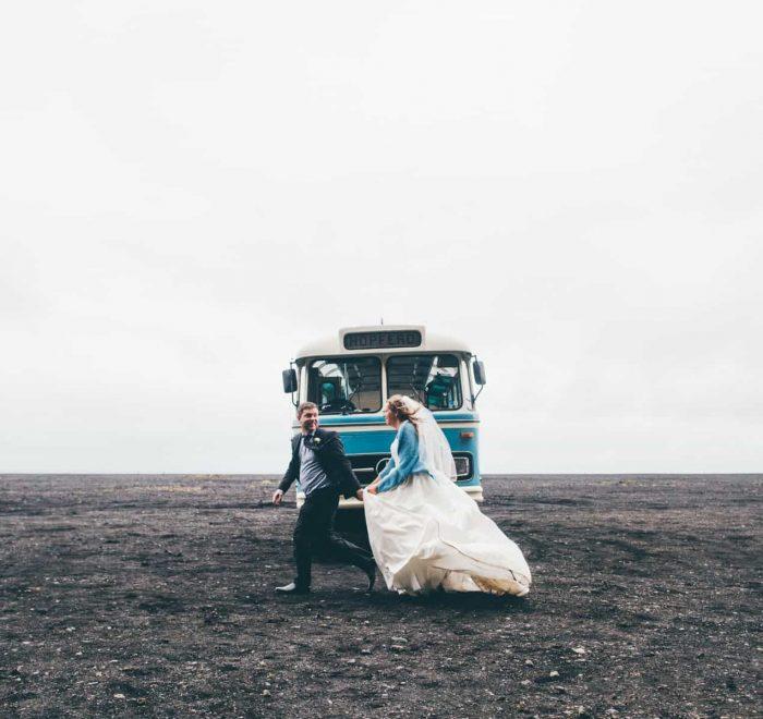 wedding photo, south iceland